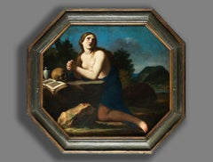 The Holy Mary Magdalena Guido Canlassi Cagnacci, 1601-1681 Oil on Canvas Framed