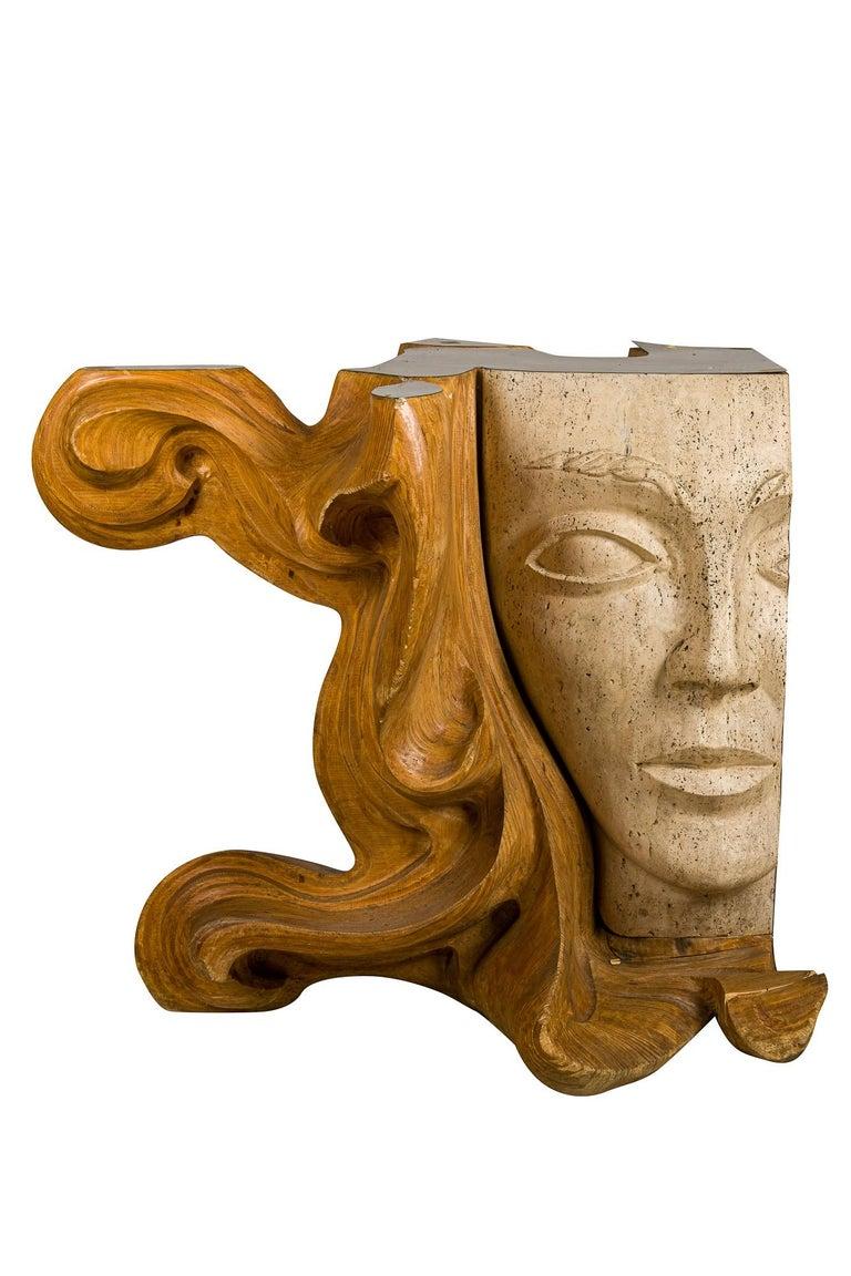 Vintage Figurative Female Sculpture Primavera Signed Romeo Tamanti Italian  - Brown Nude Sculpture by Romeo Tamanti