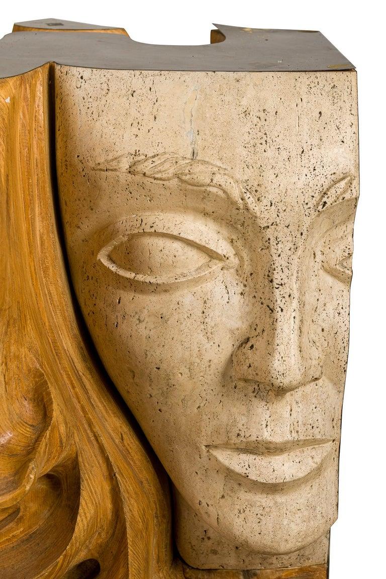 Vintage Figurative Female Sculpture Primavera Signed Romeo Tamanti Italian  For Sale 2