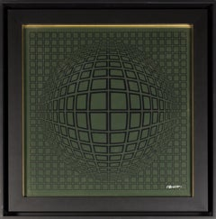 Victor Vasarely Vega - Gold, 1970 Collage