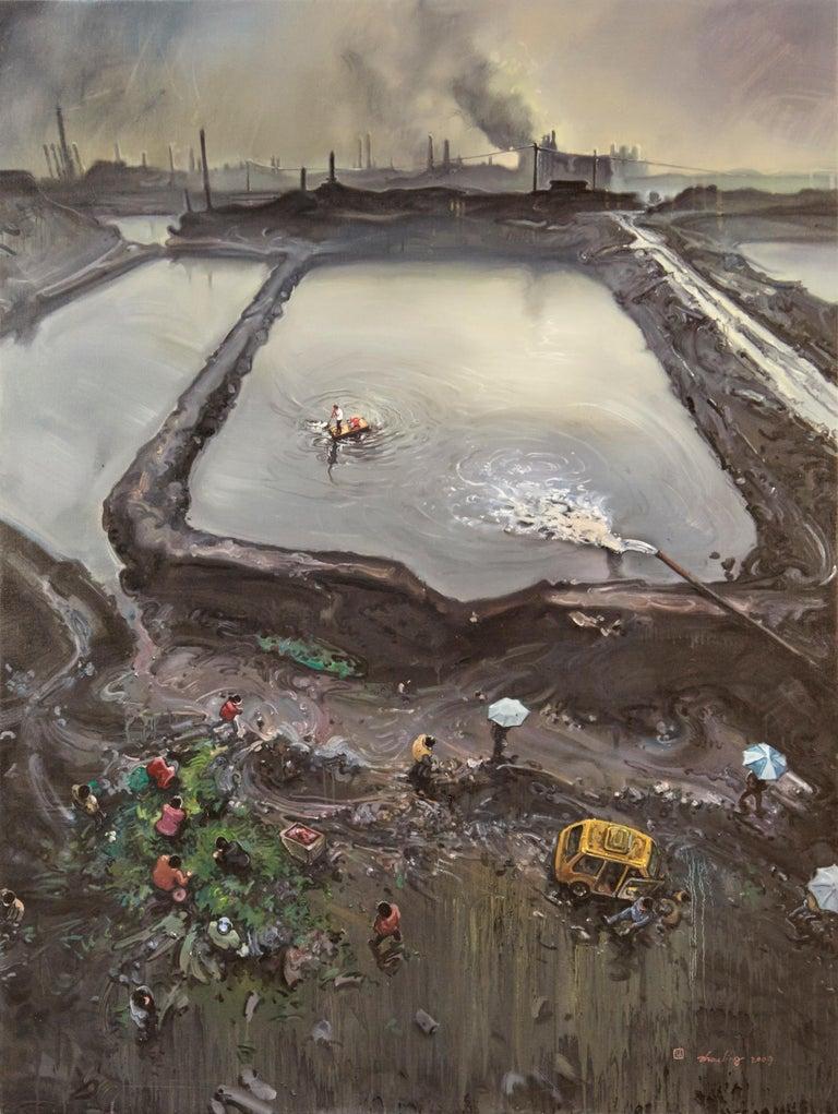 Zhou Jinhua - Dark Age No. 1, 2009  - Painting by Zhou Jinhua