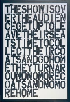 Untitled (Poster), 1993 Christopher Wool and Felix Gonzalez-Torres