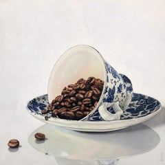 Raw Coffee - Contemporary Hyper Realist Still Life Oil Painting