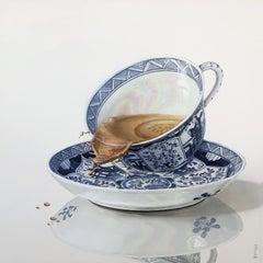 Tea - Contemporary Hyper Realist Still Life Oil Painting