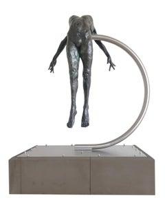 Nude Female Figurative Bronze Contemporary Sculpture: I Spirit