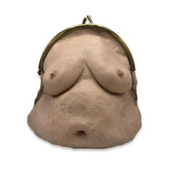 Nude Female Figurative Latex Contemporary Object - Breast Bag IV