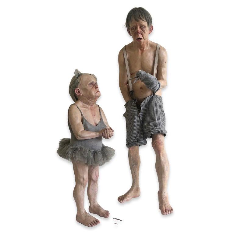 Miriam Meulepas Figurative Sculpture - Figurative Contemporary Object - LONELY PUPPET SHOW