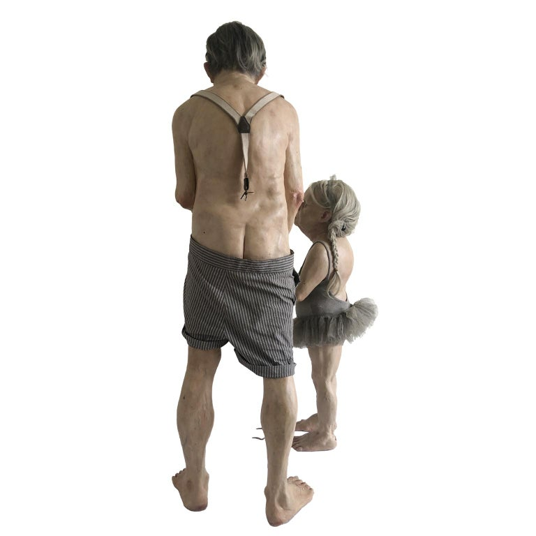 Figurative Contemporary Object - LONELY PUPPET SHOW - Surrealist Sculpture by Miriam Meulepas