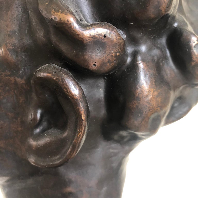 Figurative Bronze Contemporary Sculpture: IL Giovane Cesare For Sale 5