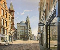 Contemporary Hyper Realist Cityscape: Leidsegracht-Keizersgracht (Amsterdam)