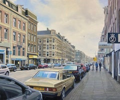 Contemporary Hyper Realist Cityscape: van Woustraat (Amsterdam)