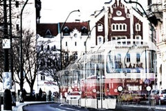Contemporary Color Urban Photography : The tram in Prague
