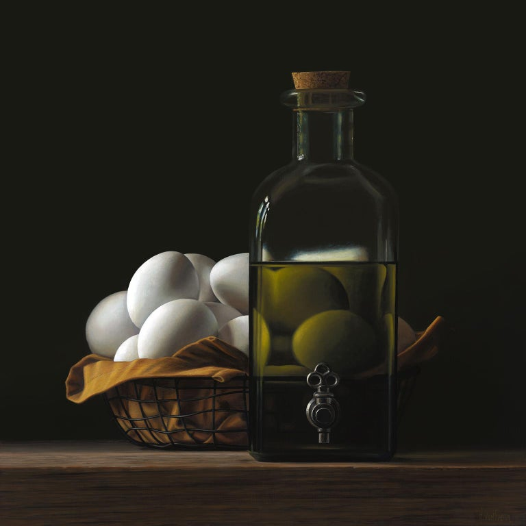 Heidi von Faber Interior Painting - Contemporary Hyper Realist Acrylic Painting : Oil With Eggs