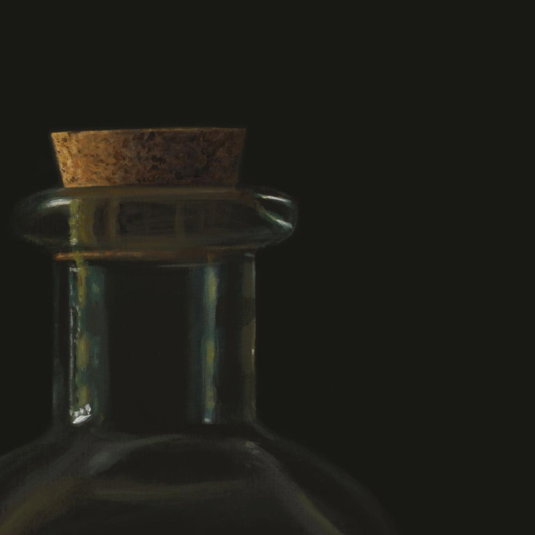 Contemporary Hyper Realist Acrylic Painting : Oil With Eggs For Sale 1