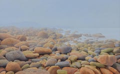 Atlantic at Fál Mór - Contemporary Hyper Realist Landscape Acrylic Painting