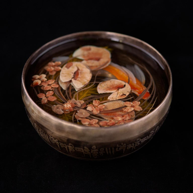 Contemporary Object 3D Painting; Tibetan Pond I - Fish Ponds  - Mixed Media Art by Ben Kleyn