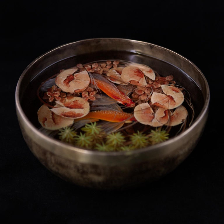 Contemporary Object 3D Painting; Tibetan Pond III - Fish Ponds  - Mixed Media Art by Ben Kleyn