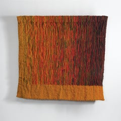 Refleksy (Reflexes), Mid-Century Wool Tapestry, Abstract Textile Wall Sculpture