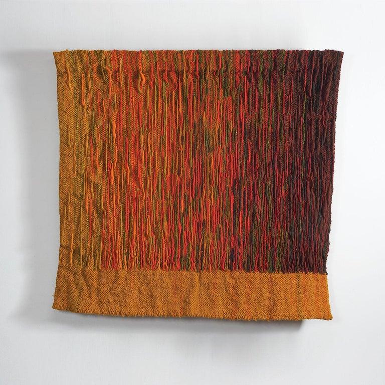 Jolanta Banaszkiewicz Abstract Sculpture - Refleksy (Reflexes), Mid-Century Wool Tapestry, Abstract Textile Wall Sculpture