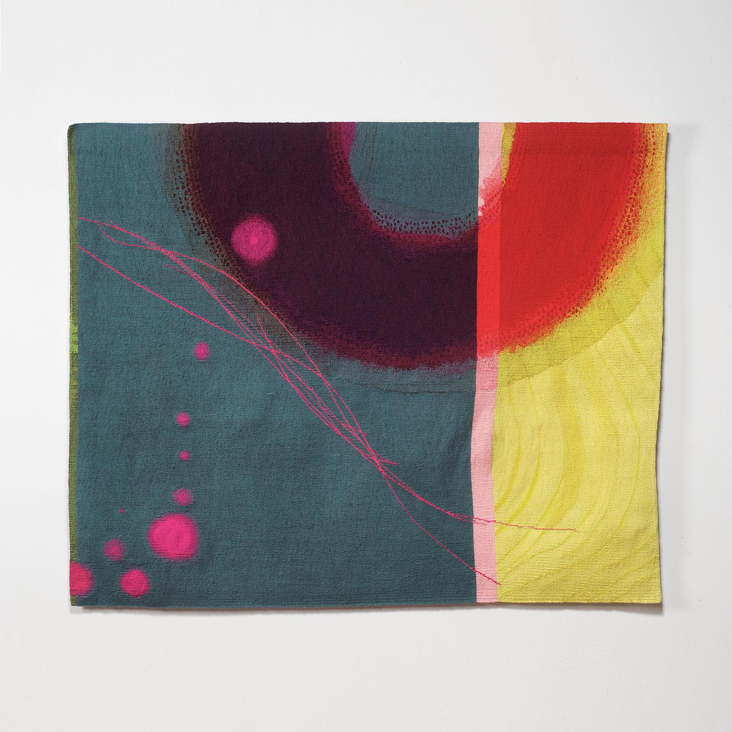 Drift, Jo Barker, Contemporary Abstract Tapestry, Colorful Textile