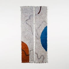 Pathways of Desire, Contemporary Abstract Tapestry, Textile Wall Sculpture