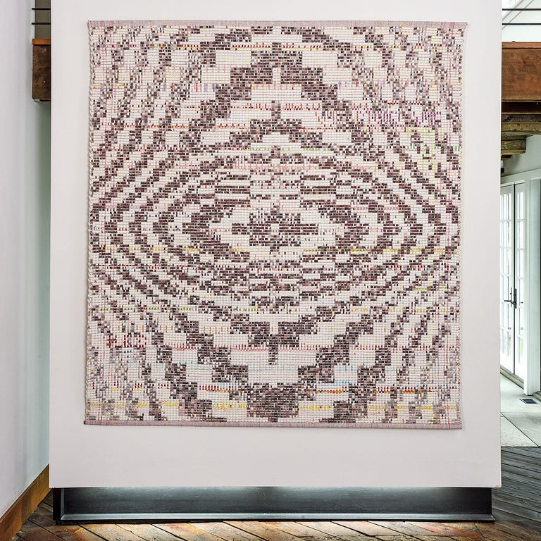 State of Mind, Contemporary Woven Tapestry, Geometric Abstract Textile Sculpture - Art by Ane Henriksen
