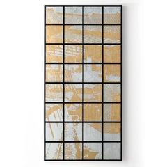 Yoshikawa, Noto, Contemporary Silk Screen Print of Cityscape, Textile Sculpture