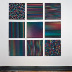 Out of Focus 1-9, Contemporary Hand-Woven Abstract Textiles, Wall Sculpture