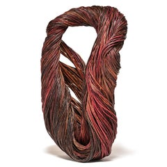 """""""Lily"""" Contemporary Abstract, Biomorphic Willow Basket Sculpture"""