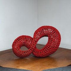 Touching Distance, Rachel Max, Woven Cane Abstract Sculpture