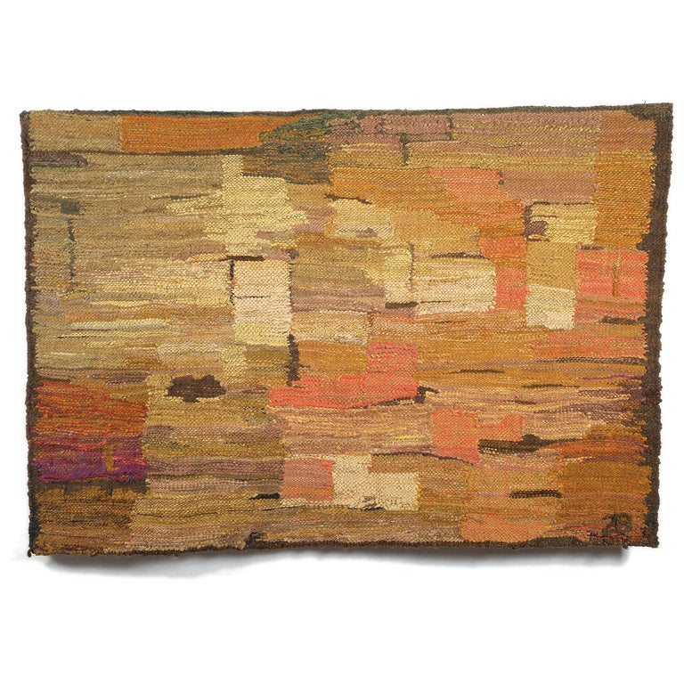 Rocks, Post-Modern Abstract Landscape Woven Tapestry, Textile Sculpture - Art by Zofia Butrymowicz