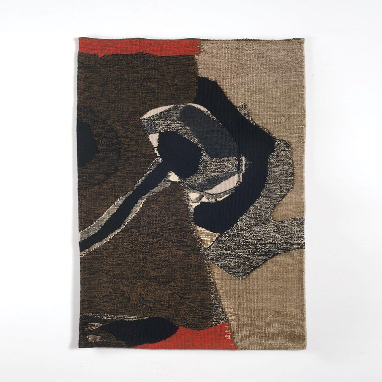 Without Name, Mid-Century Abstract Woven Tapestry, Textile Wall Sculpture - Art by JanHladik