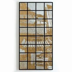Pulguk-sa,Kyong-Ju, Contemporary Silk Screen Cityscape Print, Textile Sculpture