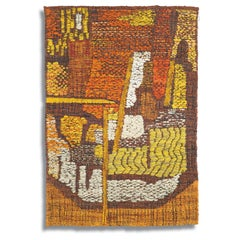 Margaret VIII, Mid-Century Abstract Woven Tapestry, Textile Wall Sculpture