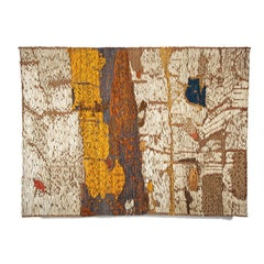 River, Mid-Century Modern Abstract Woven Tapestry, Textile Wall Sculpture