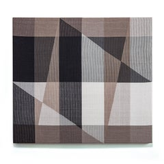 Cityscape III, Contemporary Abstract Geometric Textile Wall Tapestry