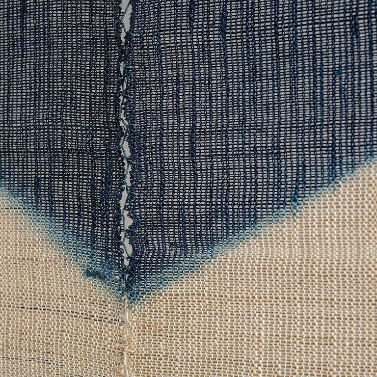 Shindigo Space II, Hand-dyed Japanese Textile Wall Hanging by HiroyukiShindo For Sale 2