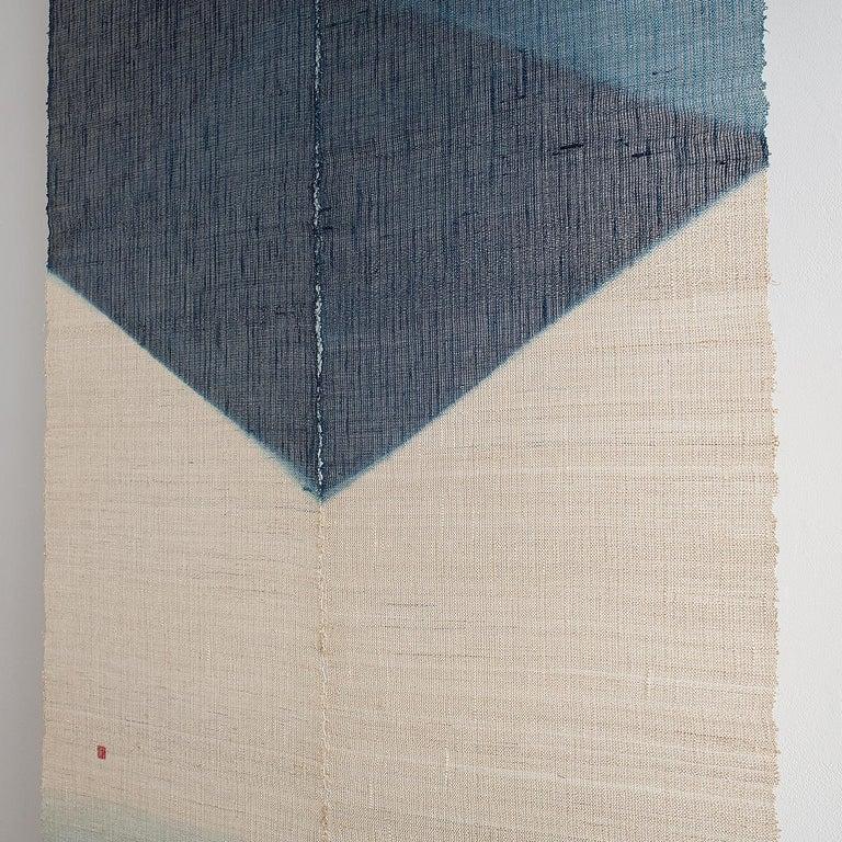 Shindigo Space II, Hand-dyed Japanese Textile Wall Hanging by HiroyukiShindo For Sale 3