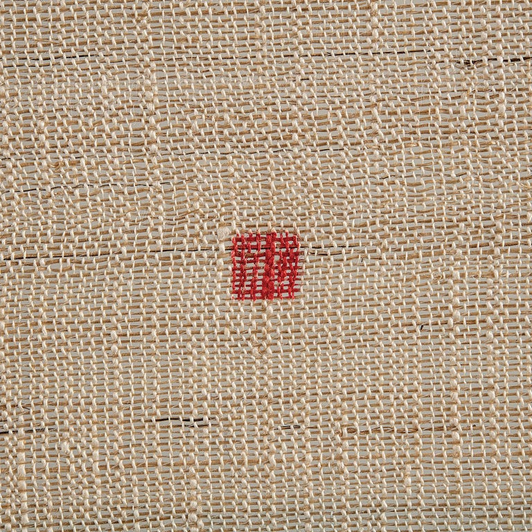 Shindigo Space II, Hand-dyed Japanese Textile Wall Hanging by HiroyukiShindo For Sale 4