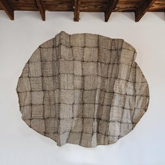 Vanishing and Emerging Wall, Contemporary Woven Paper Textile Sculpture