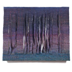 Palisades, Contemporary Abstract Textile Wall Sculpture, Woven Tapestry
