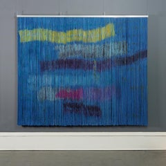 Biagga (Sea Wind), Contemporary Abstract Tapestry Painting, Wall Sculpture