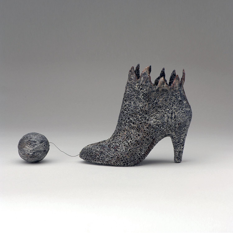 """Football"" Contemporary Fiber Art and Mixed Media Sculpture"