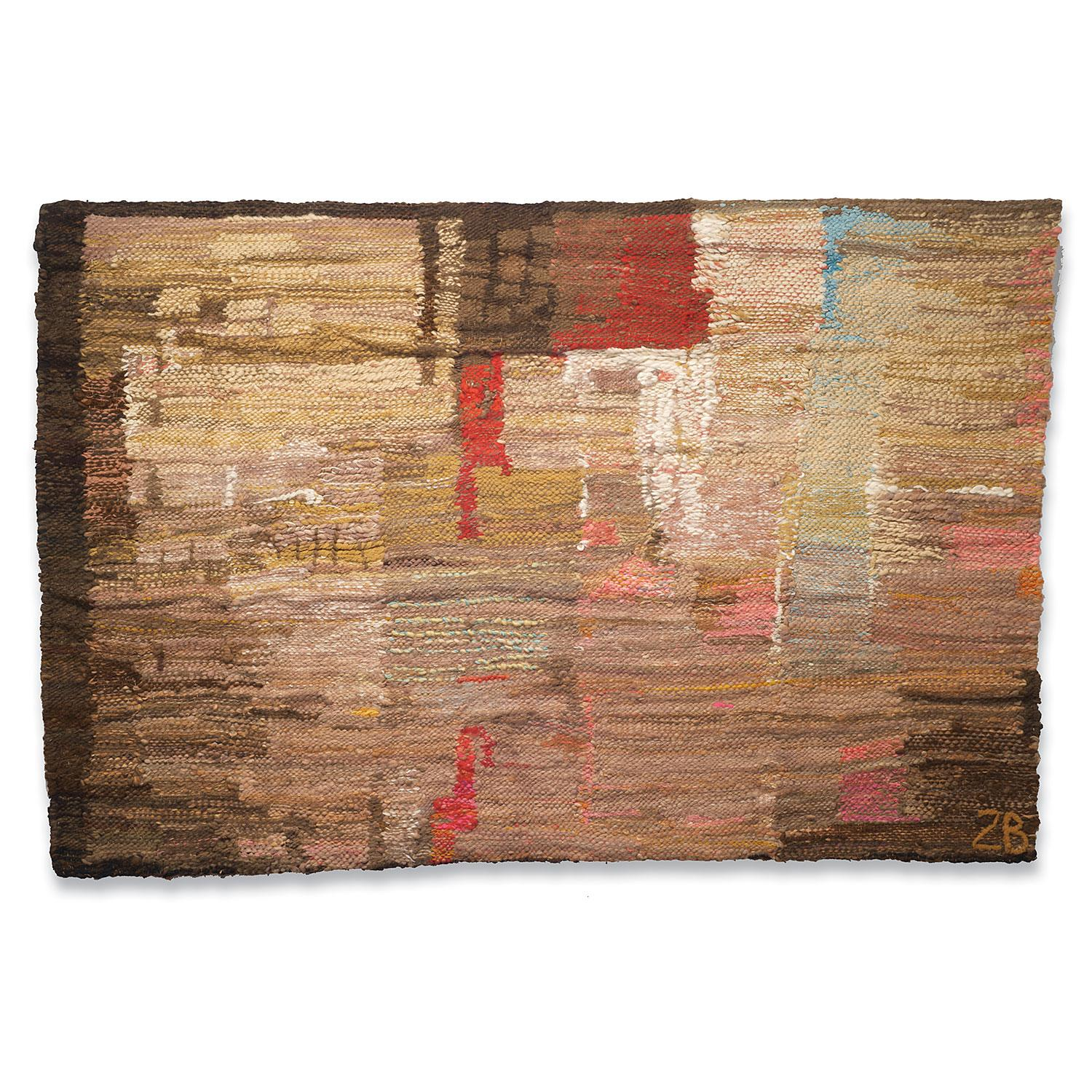 """""""Bella Pais"""" Post-Modern Abstract Polish Woven Tapestry, Textile Wall Hanging"""