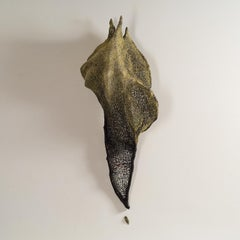 """Chrysalis"", Contemporary mixed media textile wall sculpture"