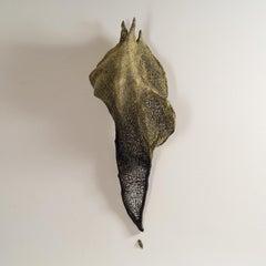"""Chrysalis"", Contemporary mixed media textile wall sculpture"