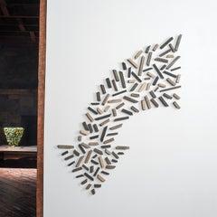 """""""True North"""" Contemporary pop art, wall installation of arrow"""