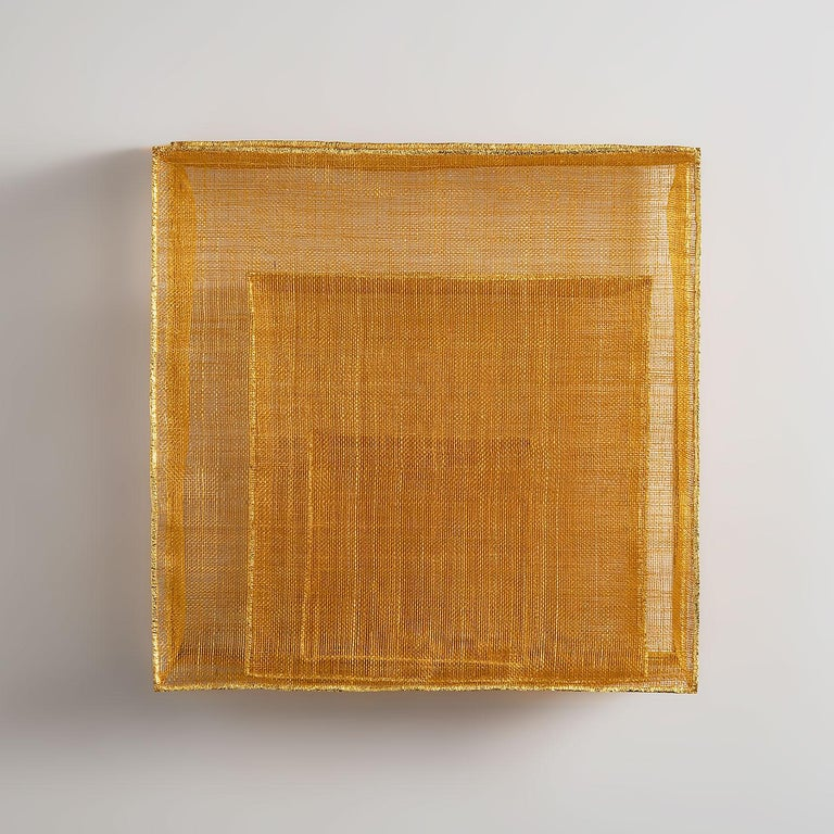 """Chang Yeonsoon Abstract Sculpture - """"The Path Which Leads to Center 18-05"""" Contemporary Korean Textile Sculpture"""