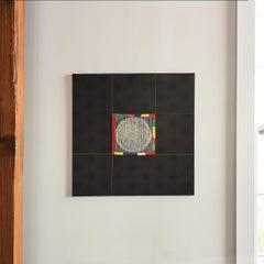 """Lyric Space"" Contemporary Korean Textile Wall Sculpture"
