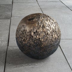 """Golden Crater"" Norma Minkowitz, Contemporary mixed media textile sculpture"